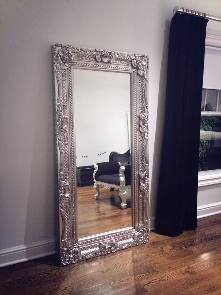 Wall Mirror for Bedroom Grand Beau Wall Mirror 6ft X 3ft Silver Leaf Client