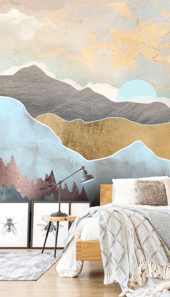 Wall Murals for Bedroom Winter Light