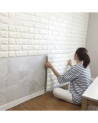 Wall Tiles for Bedroom Wall Stickers 10pcs 3d Brick Wall Stickers Pe Foam Self Adhesive Wallpaper Removable and Waterproof Art Wall Tiles for Bedroom Living Room Background