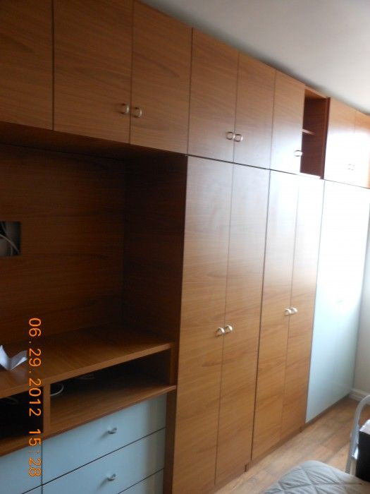 Wall Units Bedroom Furniture Custom Bedroom Wall Unit W Doors Drawers & Tv Space