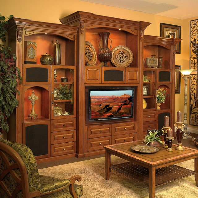 Wall Units Traditional Living Room Custom Wall Unit Entertainment Center In Sanford Fl