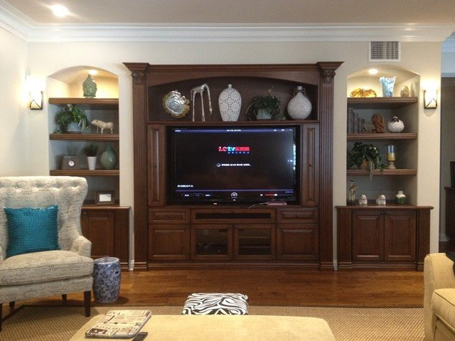Wall Units Traditional Living Room Entertainment Centers and Wall Units