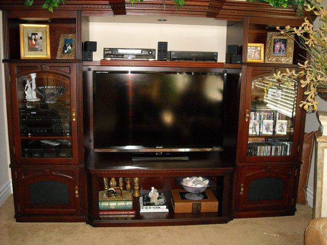 Wall Units Traditional Living Room Entertainment Centers and Wall Units Traditional