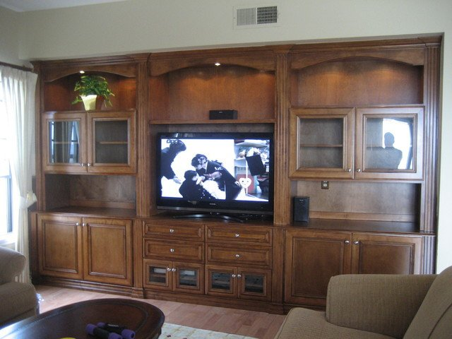 Entertainment Centers and Wall Units traditional living room orange county