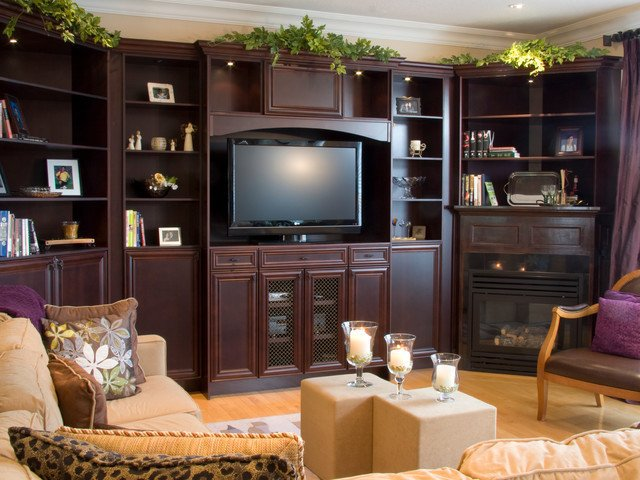 Wall Units Traditional Living Room Wall Unit Traditional Living Room by Aya