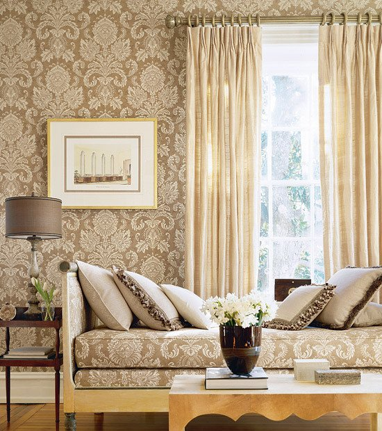 Wallpaper for Living Room Ideas Magnificent or Egregious Damask Wallpaper Anyone