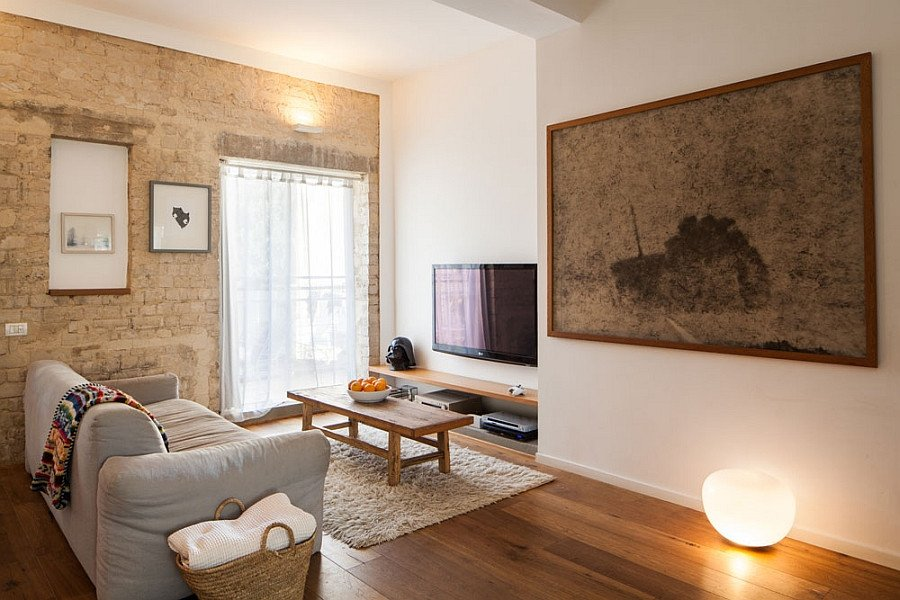 Warm Colors for Living Room Small Apartment In Tel Aviv Gets A Trendy Modern Makeover