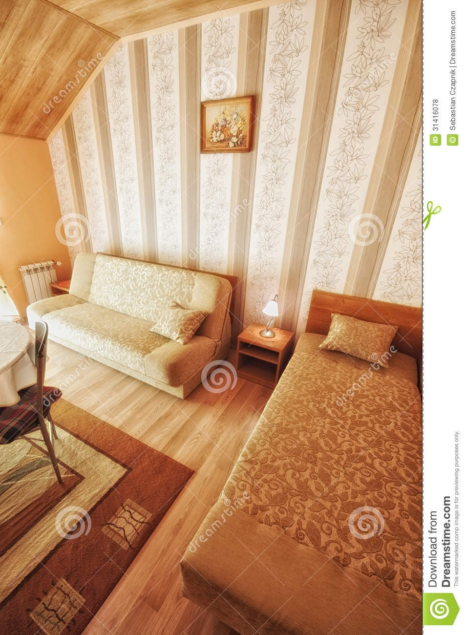 Warm Comfortable Living Room Warm fortable Living Room Royalty Free Stock S