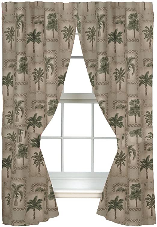 "Western Curtains for Bedroom All Seasons Palm Tree Curtains 84"" Drapes"