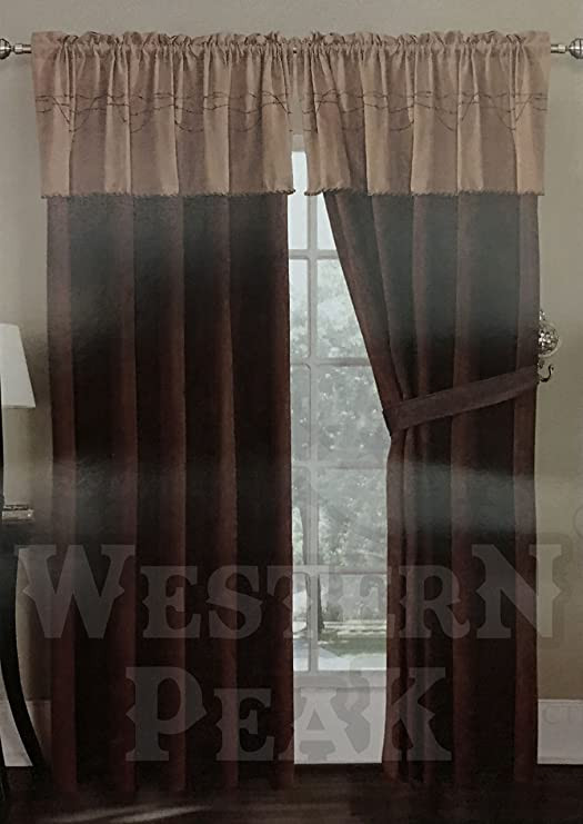 Western Curtains for Bedroom Amazon Western Peak Texas Western Embroidery Barbed