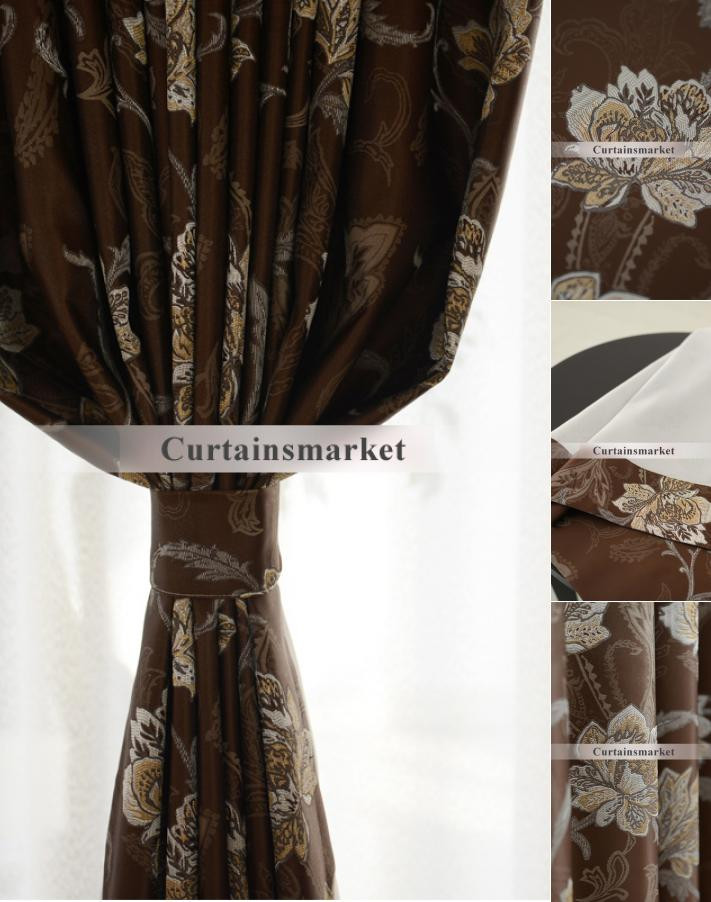 Western Curtains for Bedroom Best Jacquard High End Western Curtains In Coffee Color