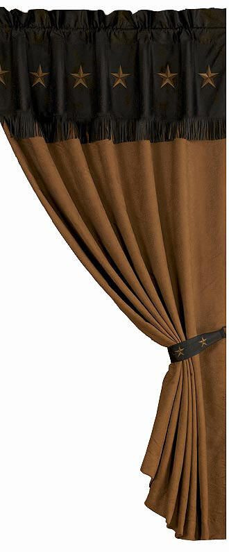 Western Curtains for Bedroom Chocolate Laredo Western Window Treatments