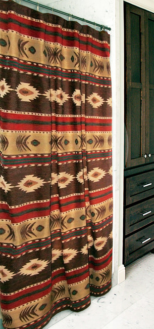 Western Curtains for Bedroom Desert Horizon southwest Shower Curtain