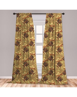 Western Curtains for Bedroom Spectacular Deals On Ambesonne Western Curtains Vintage Hat