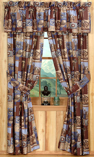 western rustic curtains drapes valances pillows