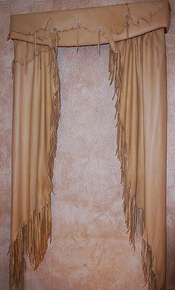 Western Curtains for Bedroom Western Style Fringed Leather Curtains and Valance Omg I