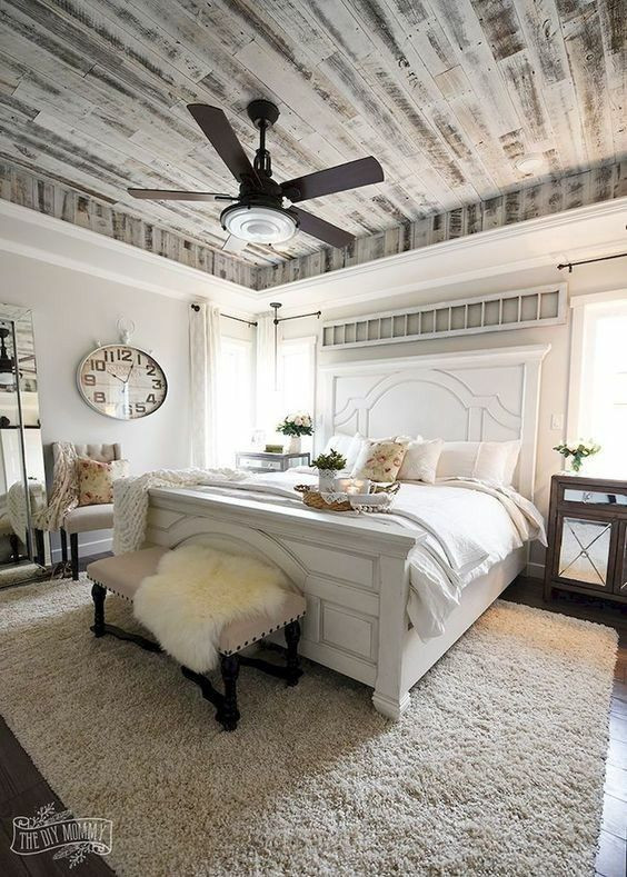 What Size Fan for Bedroom Master Bedroom Farmhouse Modern Countrt King Size Bed
