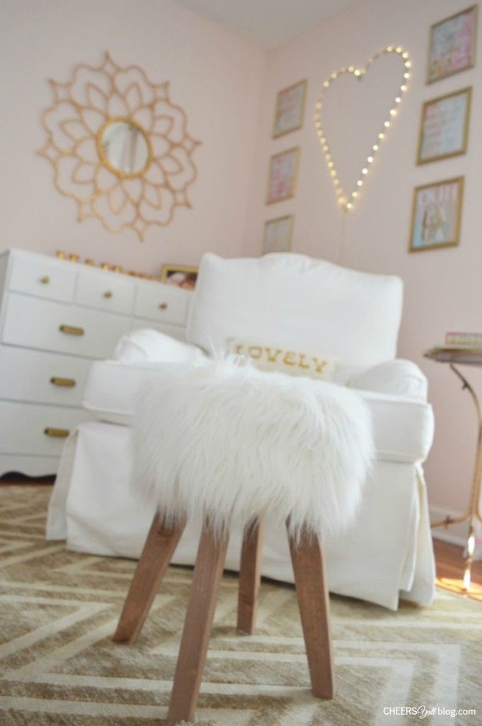 White and Gold Bedroom Decor Vote October Room Finalists