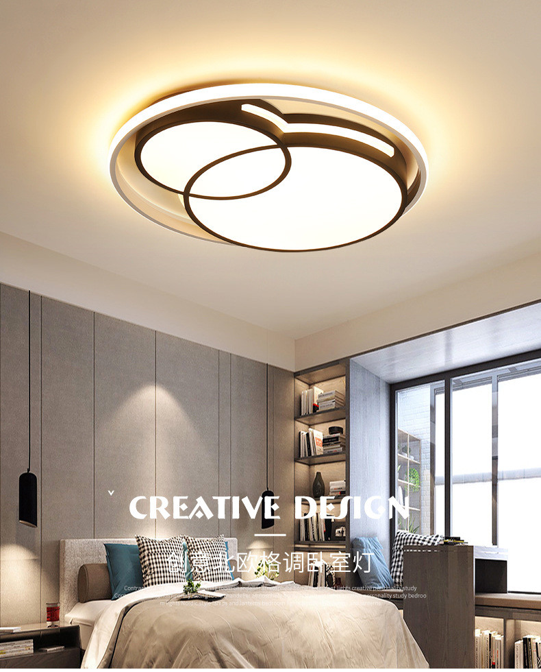 White Light for Bedroom 2020 Acrylic Thin Led Round Ceiling Lamp Simple Modern nordic Creative Master Bedroom Lamp Home Post Modern Art Room Lighting I223 From ishopcauto