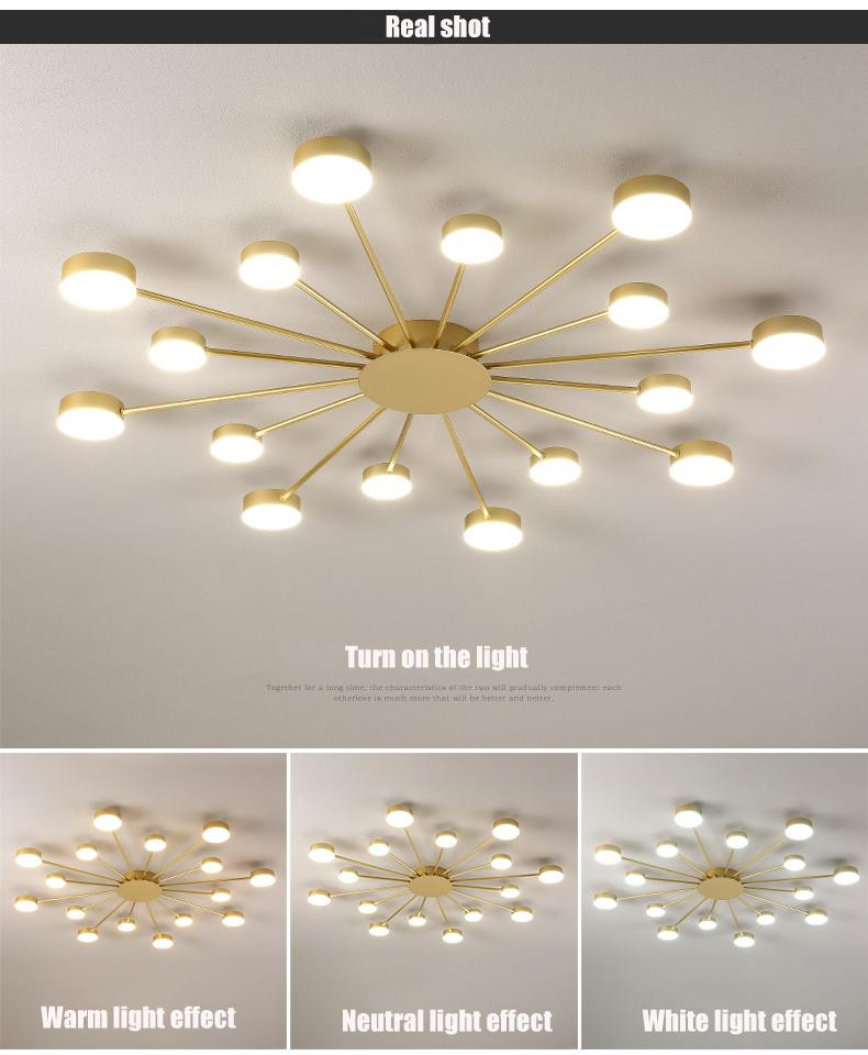 White Light for Bedroom 2020 Led Chandelier for Living Room Bedroom Home Chandelier Black Gold Modern Led Ceiling Lights Chandelier Lamp Lighting Fixtures From Flymall