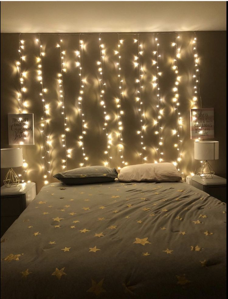 White Light for Bedroom Wall Two Hang Fairy Lights Behind Bed to Hang Pictures On