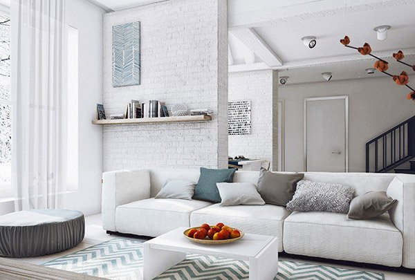 White Living Room Decor Ideas 15 Modern White and Gray Living Room Ideas