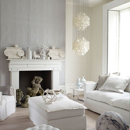 White Living Room Decor Ideas Cream Color Room theme with Black and Charcoal Grey Paint