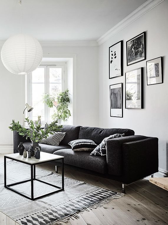 White Living Room Decor Ideas Living Room In Black White and Gray with Nice Gallery