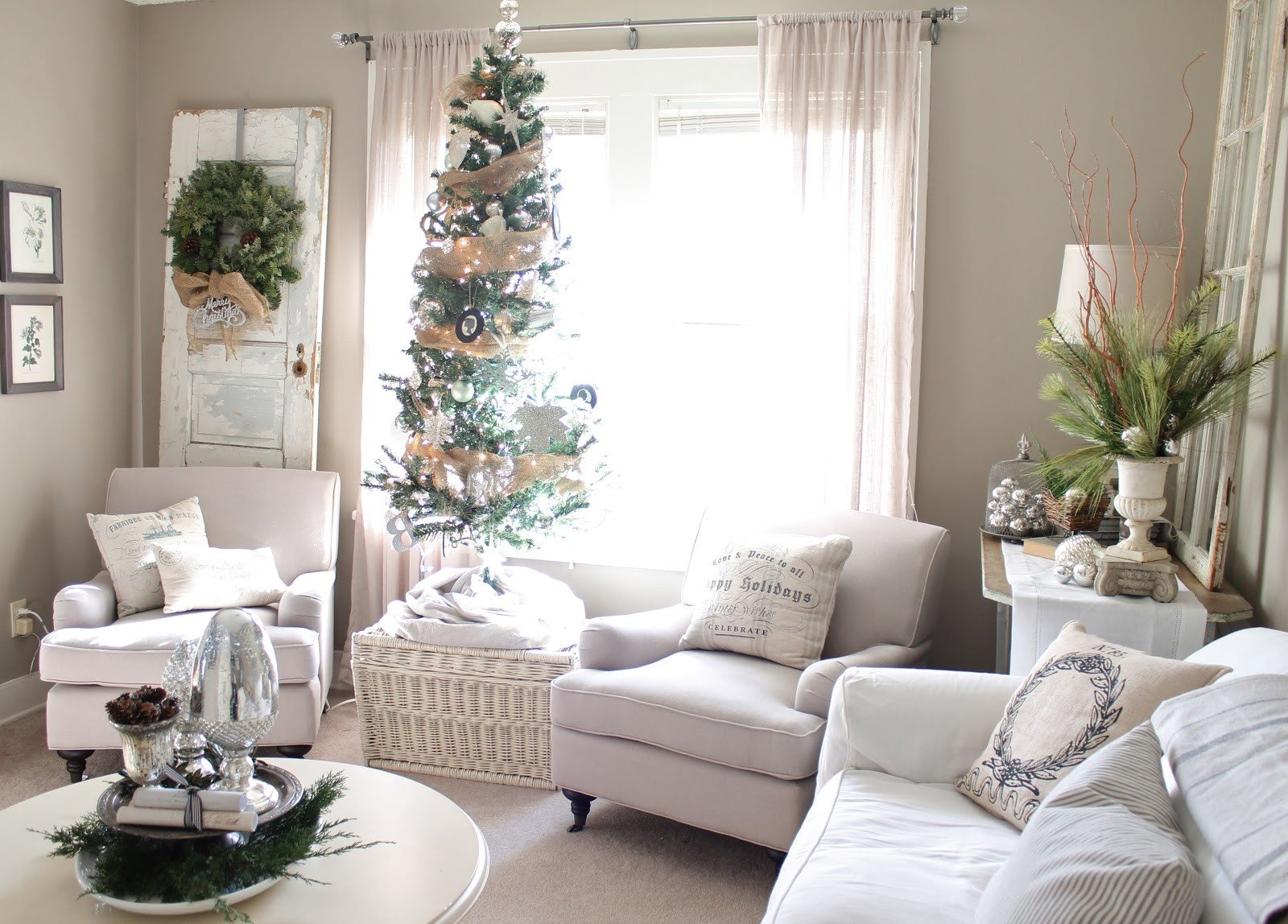 White Living Room Decor Ideas top White Christmas Decorations Ideas Christmas