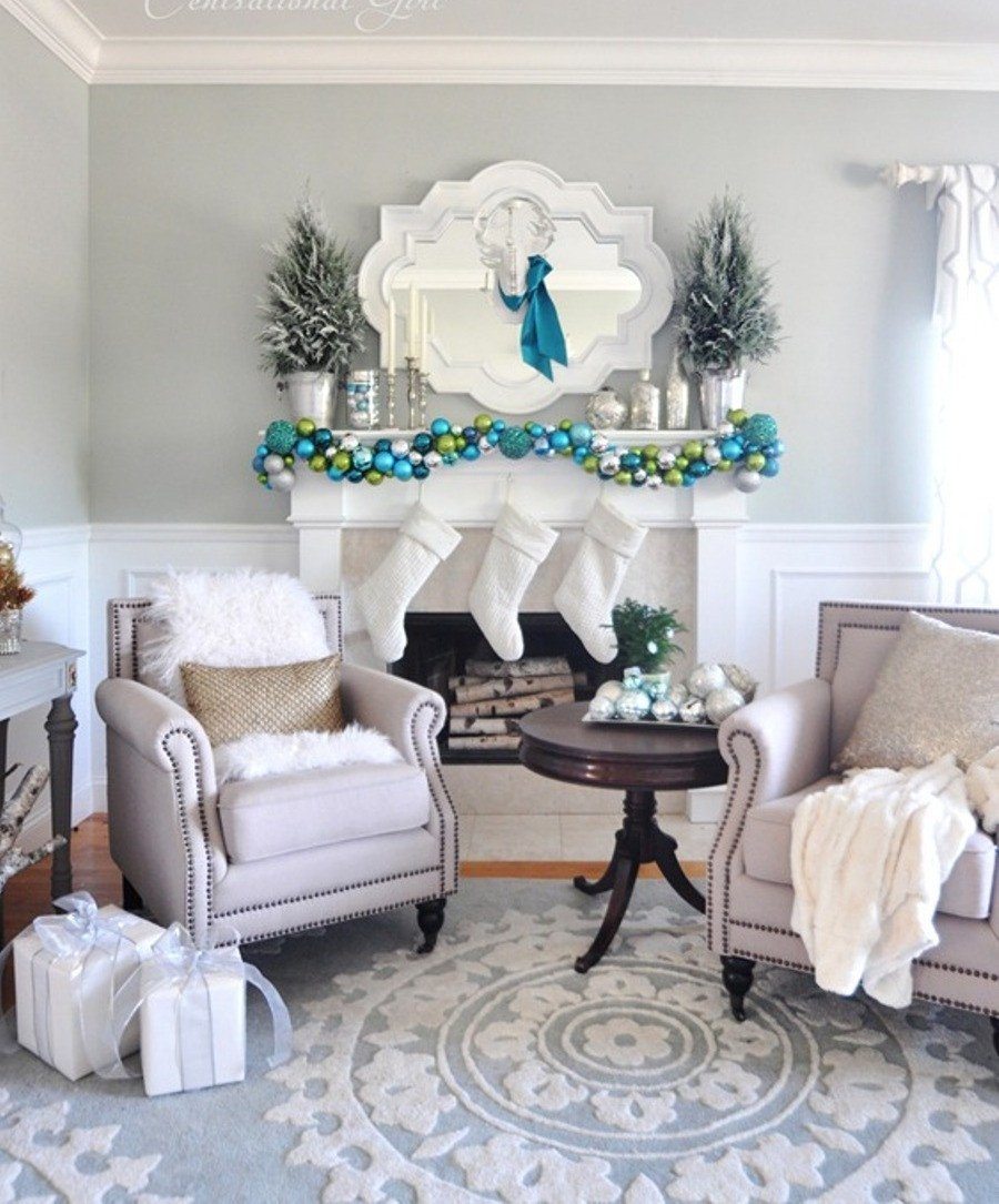 White Living Room Decor Ideas White Xmas