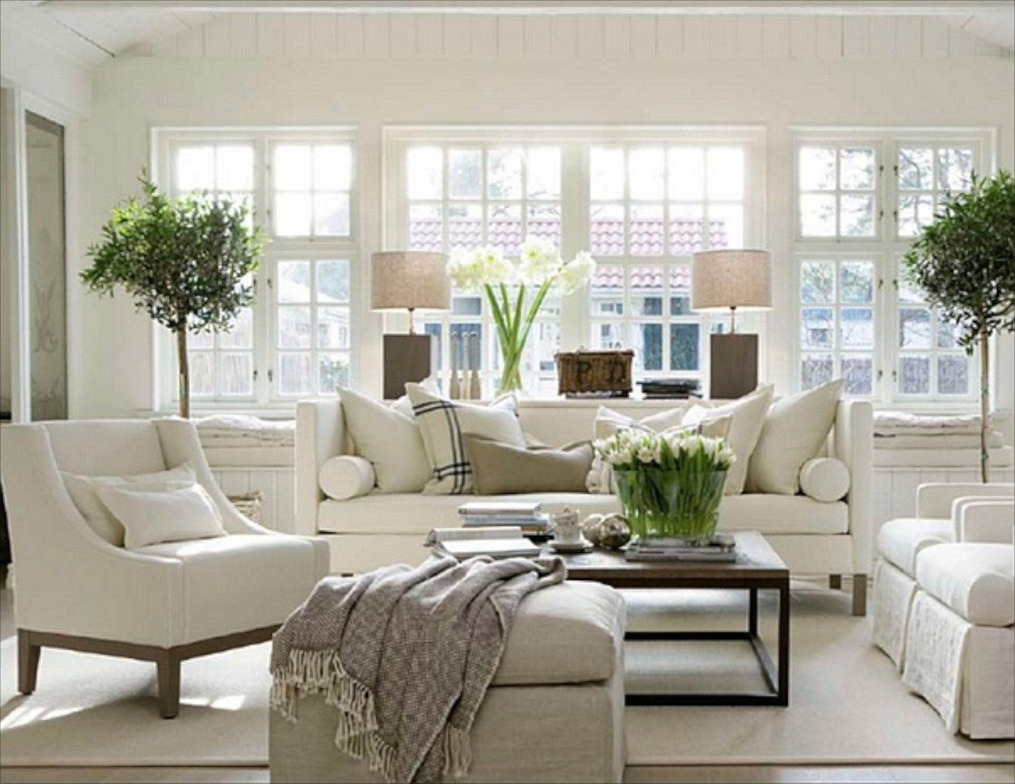 White Traditional Living Room 22 Cozy Traditional Living Room Indoor Plant Modern White