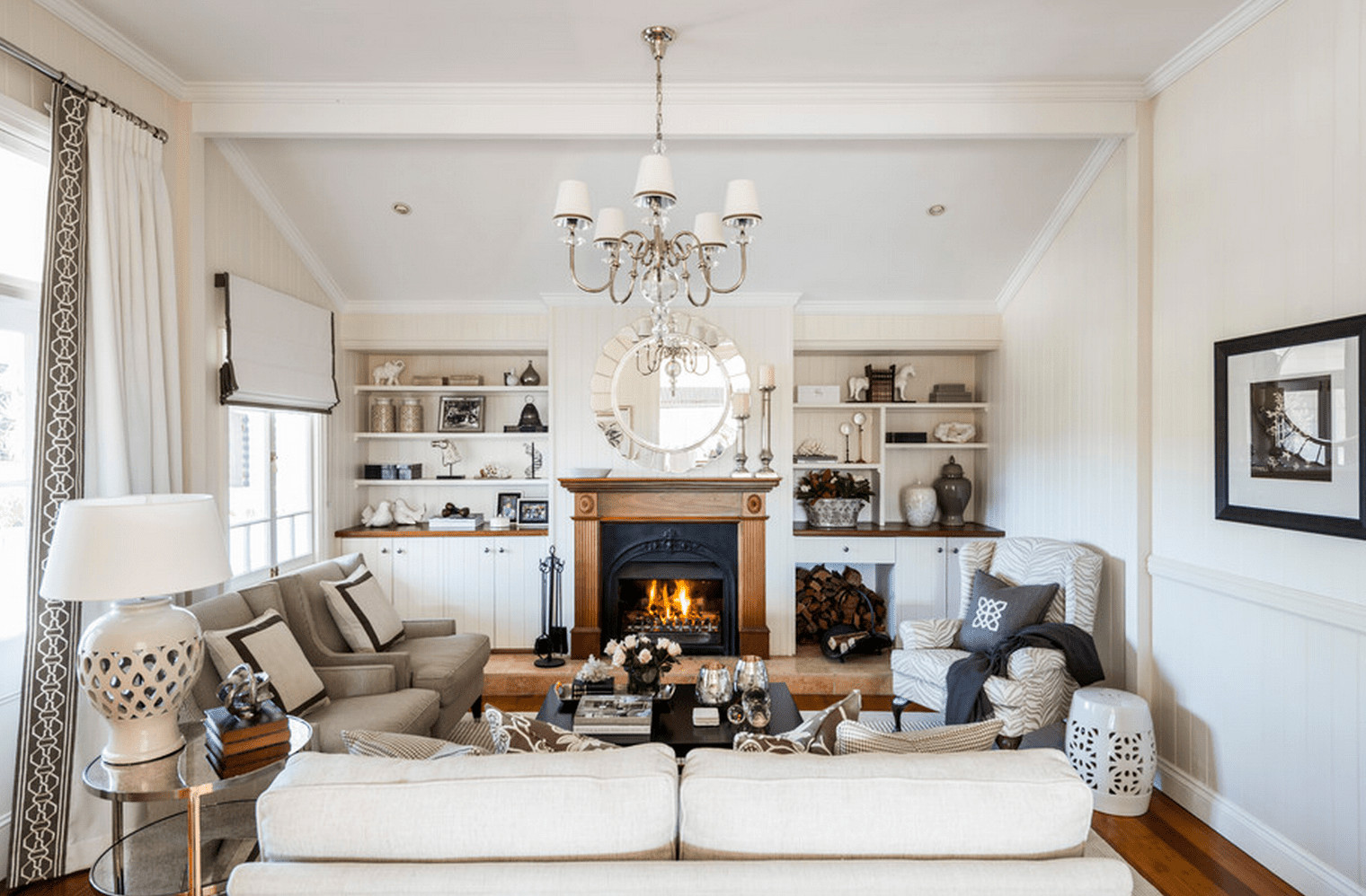 White Traditional Living Room 23 Traditional Living Rooms for Inspiration