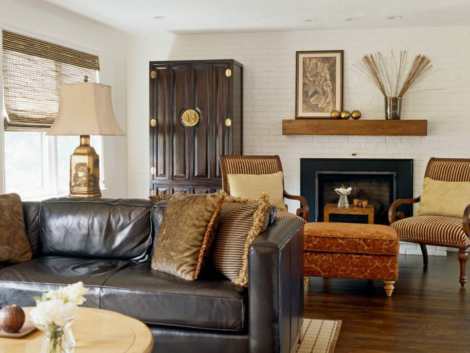 White Traditional Living Room 25 Brick Wall Designs Decor Ideas for Living Room