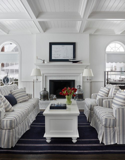 White Traditional Living Room A Joyful Cottage 35 Cottage Style Living Rooms that Inspire