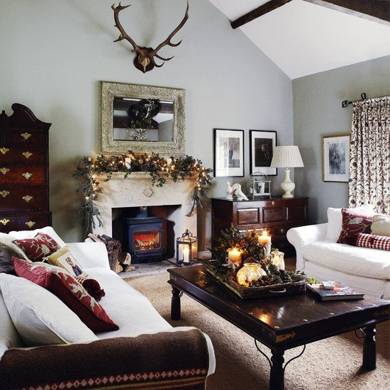 White Traditional Living Room Traditional Living Room White sofas