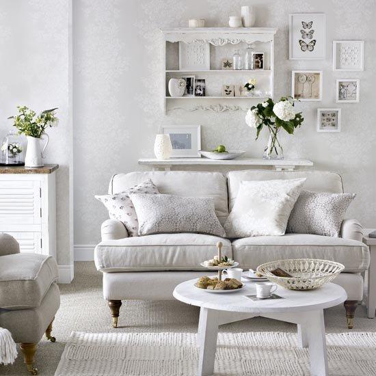 White Traditional Living Room White On White Living Room