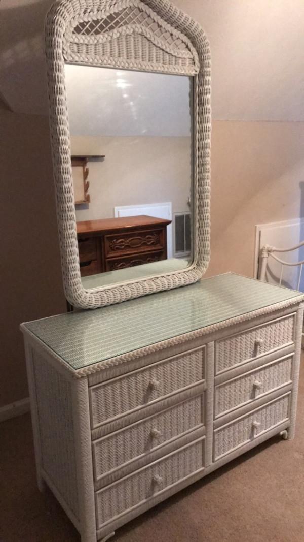 White Wicker Bedroom Furniture 2 Piece Wicker Bedroom Furniture Set