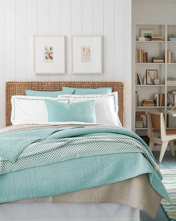 White Wicker Bedroom Furniture Ocean Coastal Bedroom with Wicker Furniture Hupehome