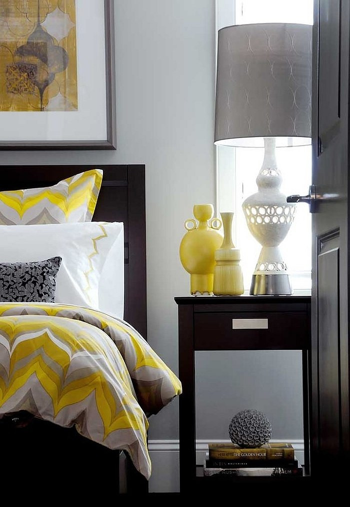 Yellow and Gray Bedroom Decor Cheerful sophistication 25 Elegant Gray and Yellow Bedrooms