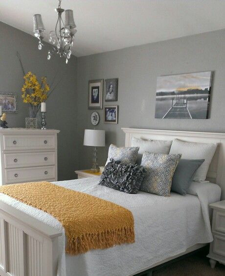 Yellow and Gray Bedroom Decor Gray and Yellow Bedroom