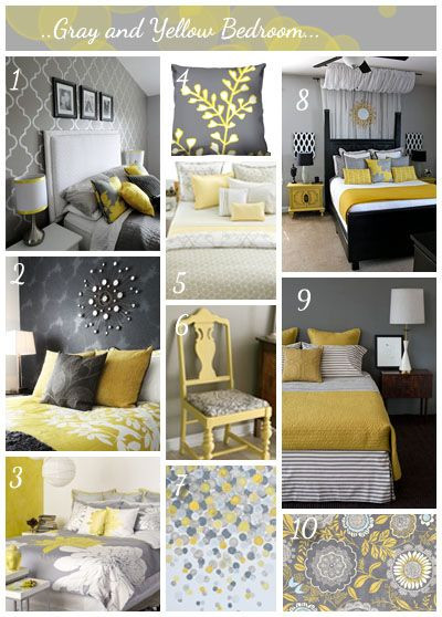 Yellow and Gray Bedroom Decor الرمادي والأصفر سحر لاينتهي