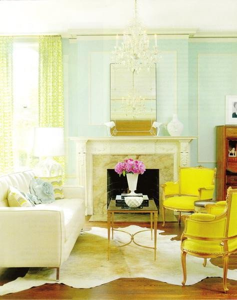 Yellow Decor for Living Room A Fresh Take On Yellow and Blue Decorating the Decorologist
