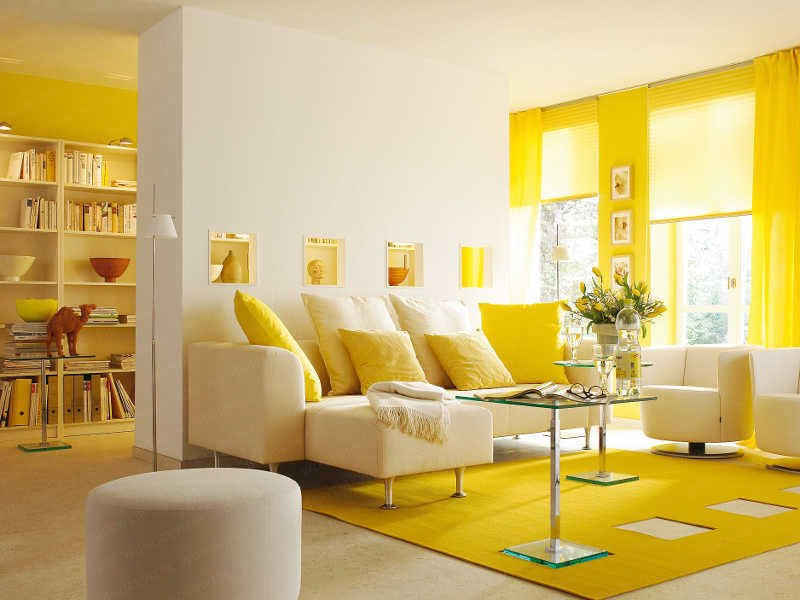 Yellow Decor for Living Room Yellow Room Interior Inspiration 55 Rooms for Your