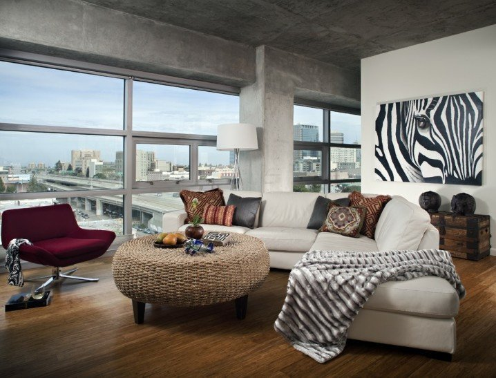 Zebra Decor for Living Room Dramatic Zebra Living Room Decoration Ideas