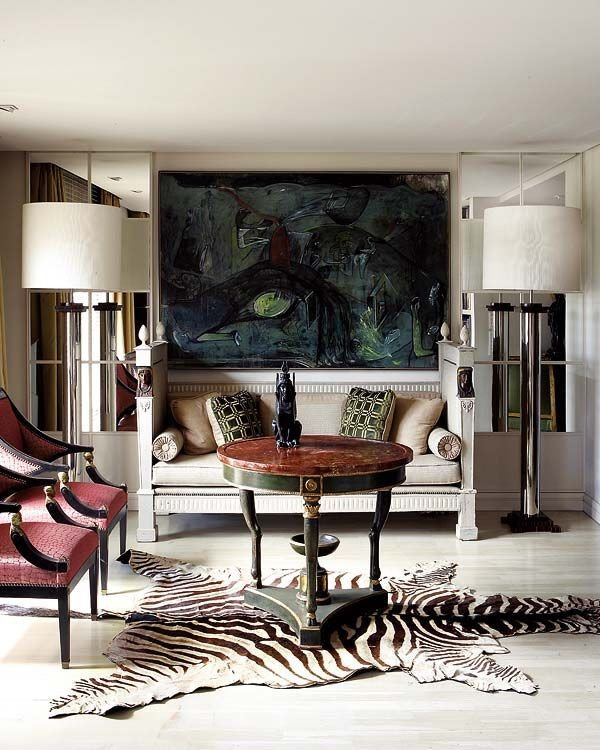 Zebra Decor for Living Room Living Room Modern Interior Design & Decor Neutral