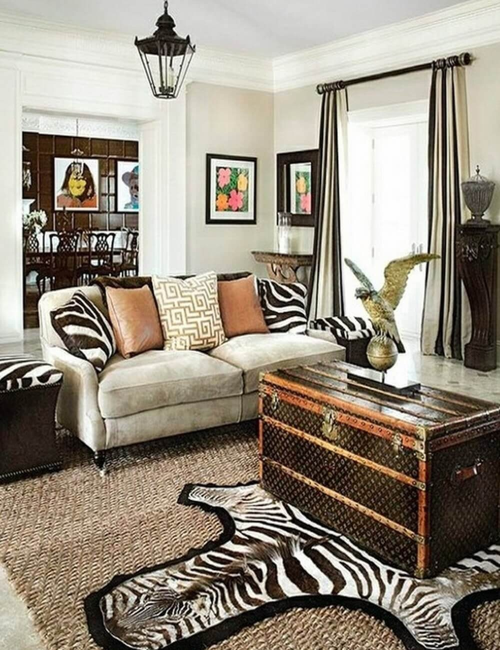 Zebra Decor for Living Room Make Your Rooms Look Fierce and Wild by Using Zebra Print
