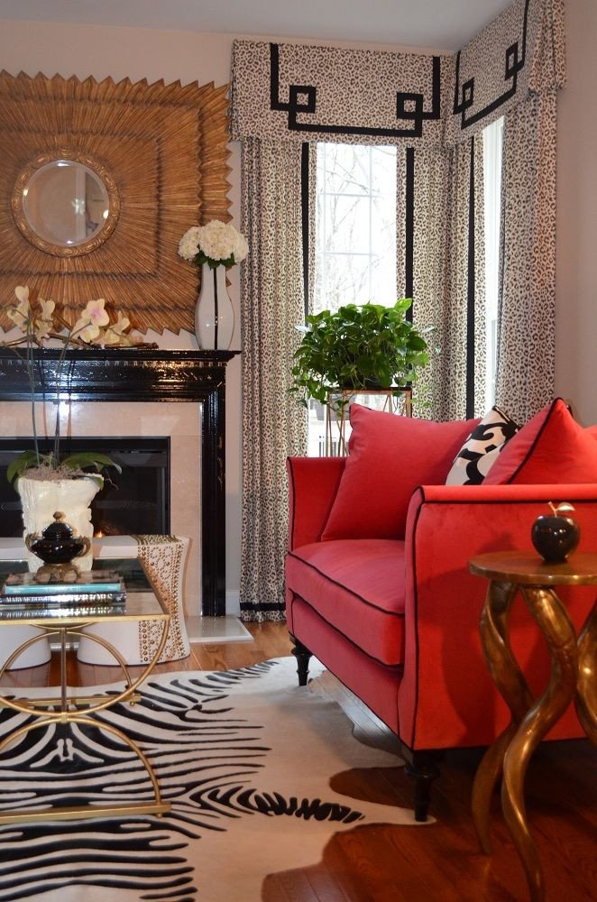 Zebra Decor for Living Room Raspberry Black I Love the Zebra Rug Styled