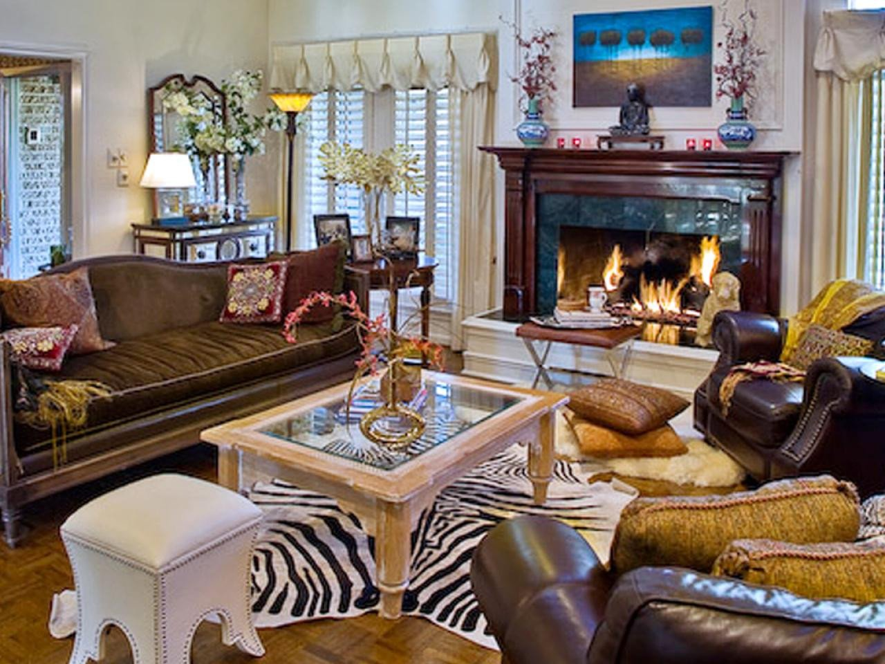 Zebra Decor for Living Room S