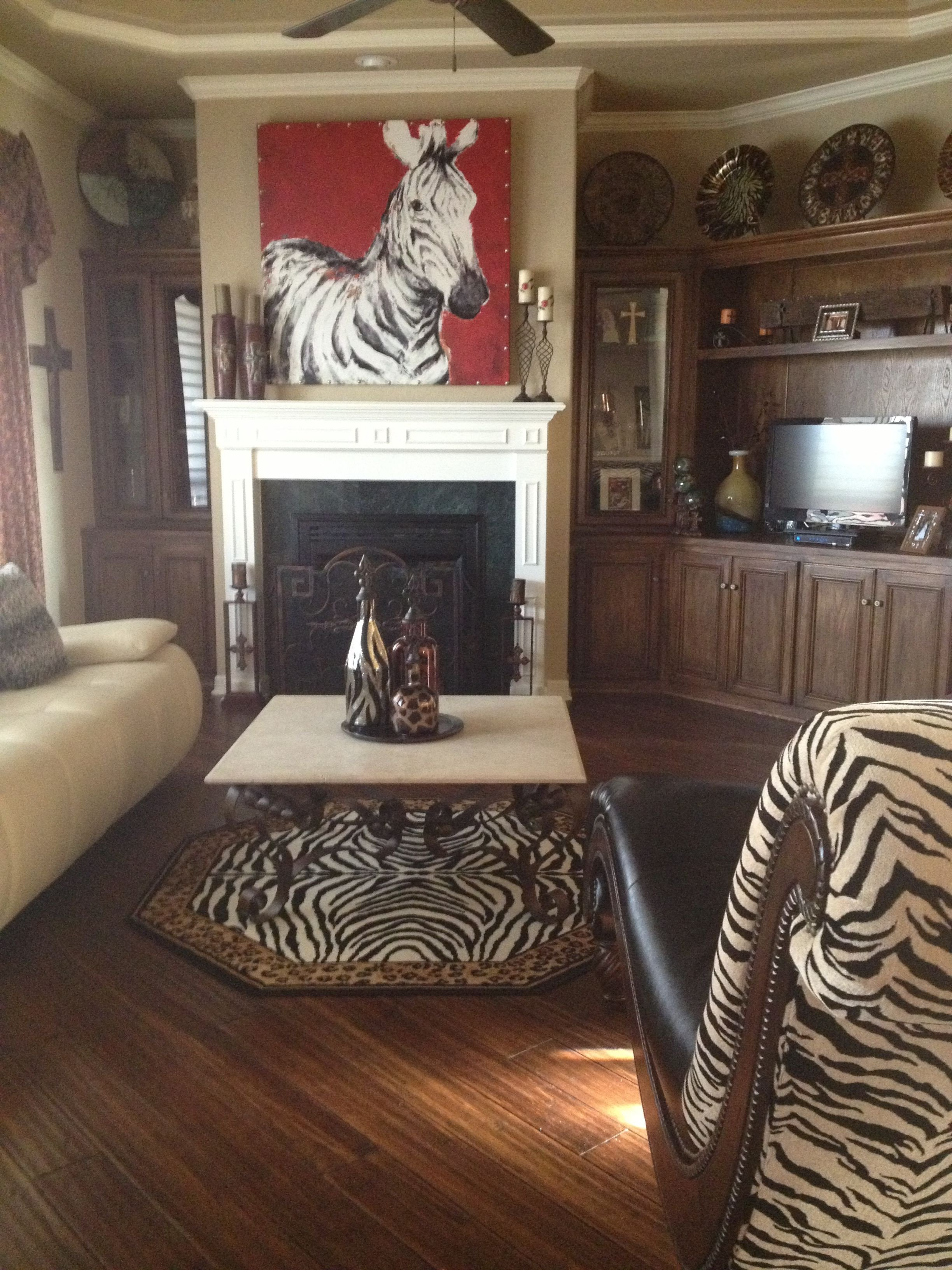 Zebra Decor for Living Room This is My Zebra Living Room I Love Animal Prints so
