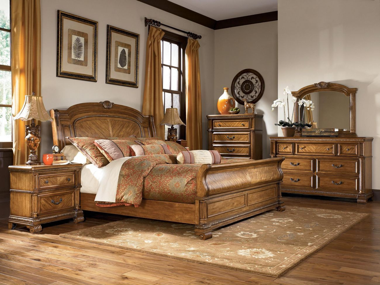 "Ashley Millennium Bedroom Set ashley Millennium ""clearwater"" B680 King Sleigh Bedroom"